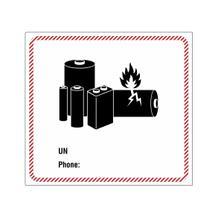 Verpackungsetikett für Lithiumbatterien - zur Selbstbeschriftung (UN, Phone)