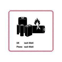 Verpackungsetikett für Lithiumbatterien - Text nach Wahl (UN, Phone)