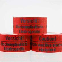 Selbstklebendes PVC-Packband - Vorsicht! Hochempfindliche Elektrogeräte