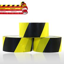 Selbstklebendes PVC-Packband Warnband (gelb/schwarz)