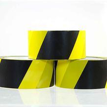 Selbstklebendes PVC-Packband - Warnband - Gelb/Schwarz