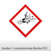 GHS-Gefahrensymbol auf Rolle verschiedene Versionen (7,4 x 7,4)