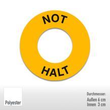 PROTECT Maschinenkennzeichnung - Text: Not Halt