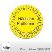 Prüfplakette für Anlagen und Maschinen - Größe Ø 5,0 cm