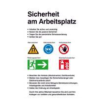 Aushang - Sicherheitskennzeichnung - Sicherheit am Arbeitsplatz
