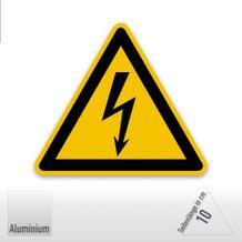 Warnschild - Warnung vor elektrischer Spannung (Alu-Schild)