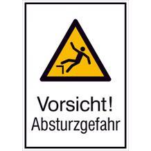 Warn-Kombischild - Vorsicht! Absturzgefahr