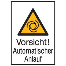 Warn-Kombischild - Vorsicht! Automatischer Anlauf