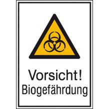 Warn-Kombischild Vorsicht! Biogefährdung