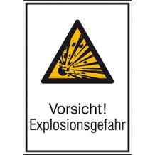 Warn-Kombischild  Vorsicht! Explosionsgefahr
