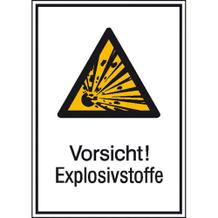 Warn-Kombischild  Vorsicht! Explosivstoffe