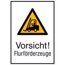 Warn-Kombischild - Vorsicht! Flurförderzeuge