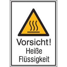 Warn-Kombischild - Vorsicht! Heiße Flüssigkeit