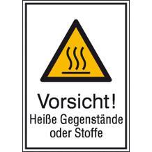 Warn-Kombischild - Vorsicht! Heiße Gegenstände oder Stoffe