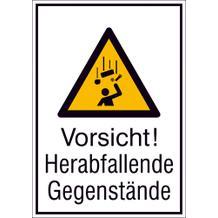Warn-Kombischild - Vorsicht! Herabfallende Gegenstände