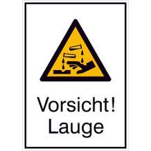 Warn-Kombischild  Vorsicht! Lauge