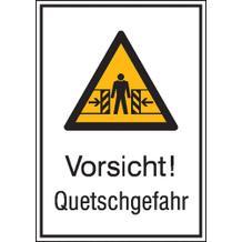 Warn-Kombischild - Vorsicht! Quetschgefahr