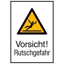 Warn-Kombischild - Vorsicht! Rutschgefahr