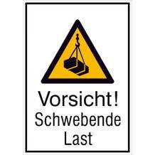 Warn-Kombischild- Vorsicht! Schwebende Last