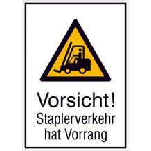 Warn-Kombischild - Vorsicht! Staplerverkehr hat Vorrang