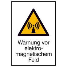 Warn-Kombischild Warnung vor elektromagnetischem Feld