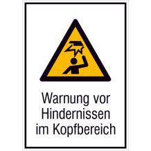 Warn-Kombischild - Warnung vor Hindernissen im Kopfbereich