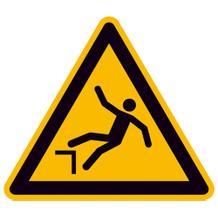 Warnschild - Warnung vor Absturzgefahr