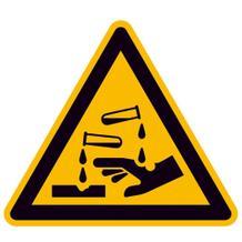 Warnschild - Warnung vor ätzenden Stoffen
