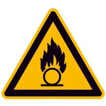 Warnschild - Warnung vor brandfördernden Stoffen