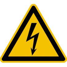 Warnschild - Warnung vor elektrischer Spannung