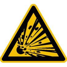 Warnschild - Warnung vor explosionsgefährlichen Stoffen
