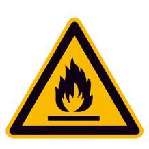 Warnschild - Warnung vor feuergefährlichen Stoffen