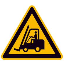 Warnschild - Warnung vor Flurförderzeugen