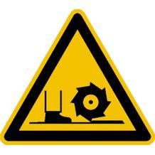 Warnschild - Warnung vor Fräswelle