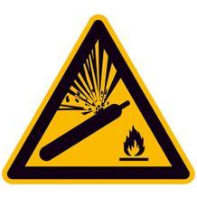 Warnschild - Warnung vor Gasflaschen