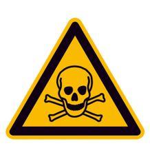 Warnschild - Warnung vor giftigen Stoffen