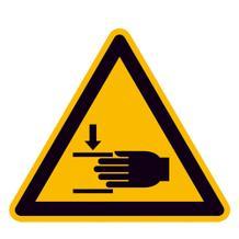 Warnschild - Warnung vor Handverletzungen