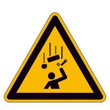 Warnschild - Warnung vor herabfallenden Gegenständen