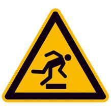 Warnschild - Warnung vor Hindernissen am Boden