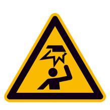 Warnschild - Warnung vor Hindernissen im Kopfbereich