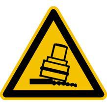 Warnschild - Warnung vor Kippgefahr beim Walzen