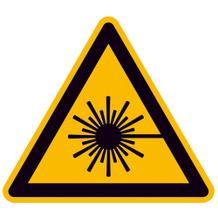 Warnschild - Warnung vor Laserstrahl