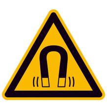 Warnschild - Warnung vor magnetischem Feld