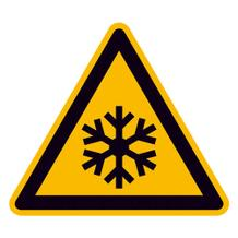 Warnschild - Warnung vor niedriger Temperatur/Frost