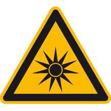 Warnschild - Warnung vor optischer Strahlung