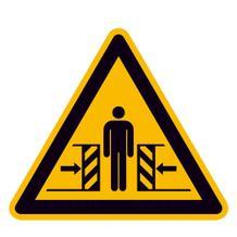 Warnschild - Warnung vor Quetschgefahr