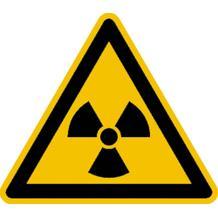 Warnschild - Warnung vor radioaktiven Stoffen oder ionisierender Strahlung
