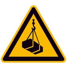 Warnschild - Warnung vor schwebender Last