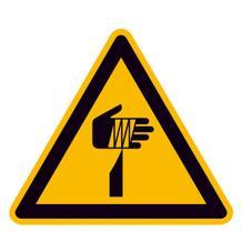 Warnschild - Warnung vor spitzem Gegenstand