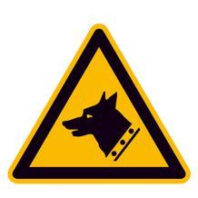 Warnschild - Warnung vor Wachhund